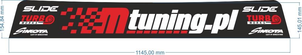 Naklejka Blenda Przeciwsłoneczna BMW E30 MTuning - GRUBYGARAGE - Sklep Tuningowy